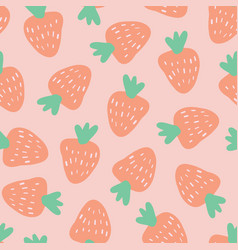 strawberry pattern seamless background vector image