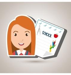 student school sheet notebook vector image