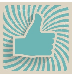 Thumb Up Retro Grunge Symbol vector image