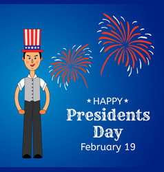 usa presidents day greeting card or banner vector image