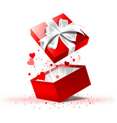 valentines day gift box vector image