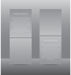 Vertical Rectangle Grey Paper Banner Mockup vector