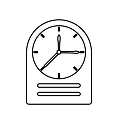 vintage clock isolated vector image