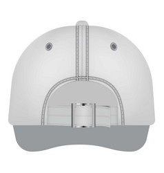 white cap back view mockup realistic style vector image