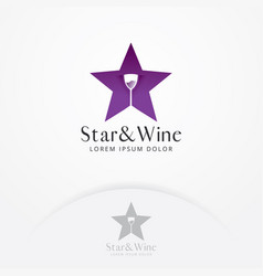 wine bar logo template vector image