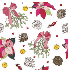 winter plants vector image