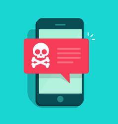 Malware notification on smartphone concept vector
