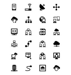 Networking Icons 1 vector image vector image