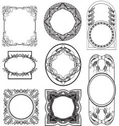 set vintage frame vector image vector image