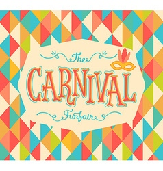 Carnival funfair background vector