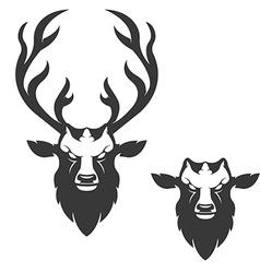 deer head vector image vector image