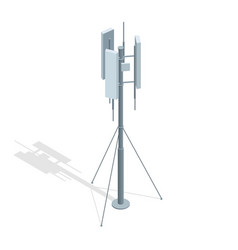 isometric telecommunications towers a mobile vector image vector image