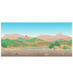Landscape of wild West Scene creative vector image