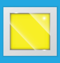 square picture frame on the wall vector image