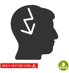 Brain Electric Strike Eps Icon vector image vector image