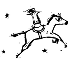 Jumping Horse vector image