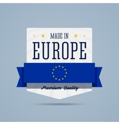 Made in Europe badge vector image vector image
