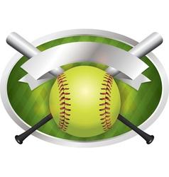 Softball Champions Emblem vector image