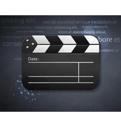 clapperboard vector image vector image