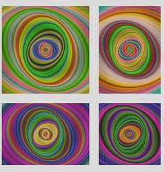 Colorful motion design brochure background set vector image vector image