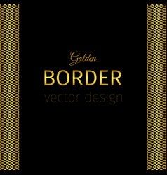 golden border with guilloches vector image