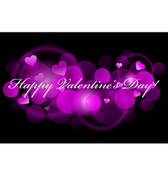 Happy Valentines Day - pink background vector image vector image