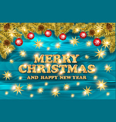 merry christmas shining background elegant new vector image