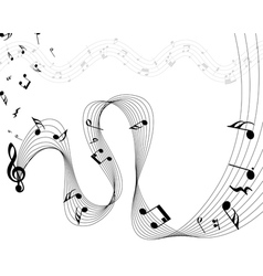 music staff vector image