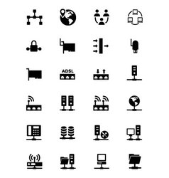 Networking Icons 2 vector image vector image