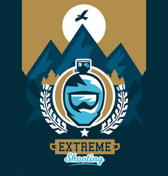 On the theme of extreme sport vector