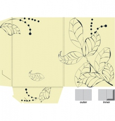 template for decorative folder vector image vector image