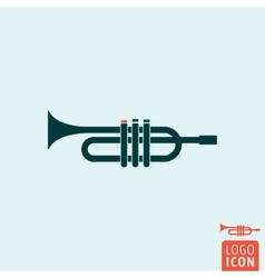 Trumpet icon isolated vector image vector image