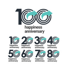 100 years happiness anniversary template design vector