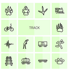 14 track icons vector