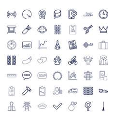 49 symbol icons vector
