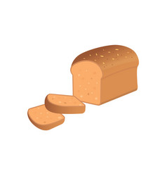 a bread slices on white backgroun vector image