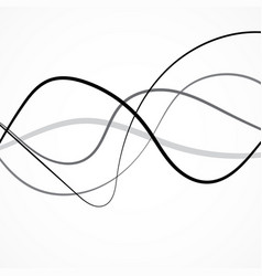 abstract black wave of lines curved stripes vector image