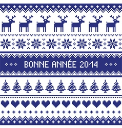 Bonne Annee 2014 - french happy new year pattern vector image