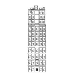 Building real estate apartment image outline vector