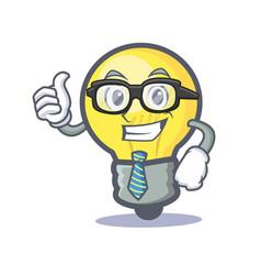 businessman light bulb character cartoon vector image