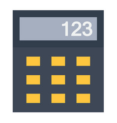 Calculator flat icon business and mathematics vector