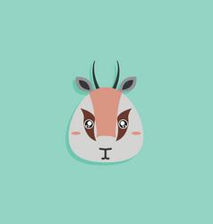 Cartoon gazelle face vector