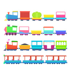 children toys miniatures of colored cartoon vector image