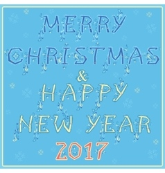 Christmas and new year festive card vector image