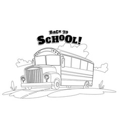 Classic american old school bus back to school vector