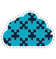 cloud puzzle solution image vector image