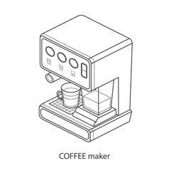 coffee machine with cup isometric vector image
