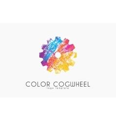 Cogwheel logo Color cogwheel Creative logo vector image