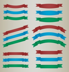 Collection of colorful retro ribbons vector image
