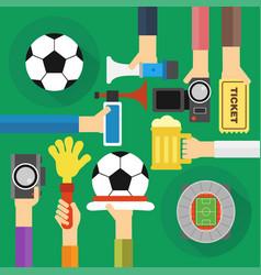 concept soccer fan flat design vector image